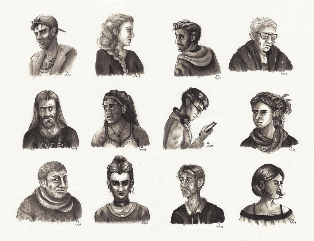 People II (Marker Sketches) by FrerinHagsolb