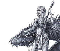 Dalindra and Mohrlex (Art Trade) by FrerinHagsolb