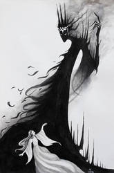 Lull The Black Foe (Luthien and Morgoth)