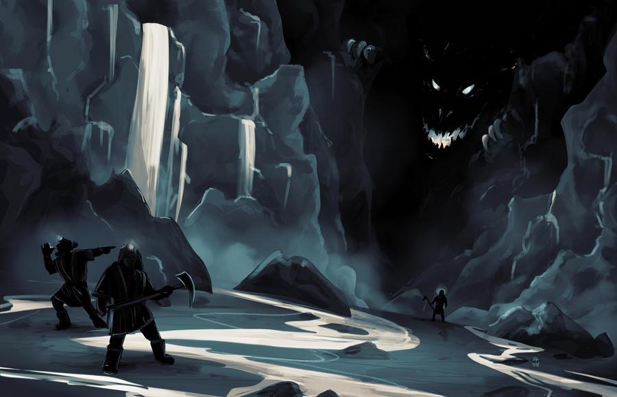 Smaug's Arrival (speedpainting) by FrerinHagsolb