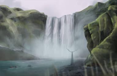 Spirit of the Falling Water (speedpainting) by FrerinHagsolb