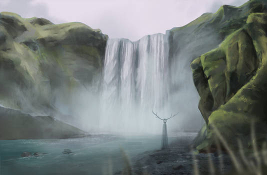 Spirit of the Falling Water (speedpainting)