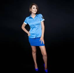 Jill Valentine cosplay police uniform