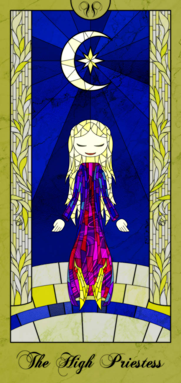 Stained Glass Tarot Card (The High Priestess) by TheCreator7777
