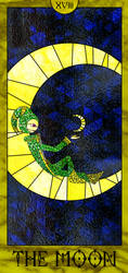 Stained Glass Tarot Card (The Moon) by TheCreator7777