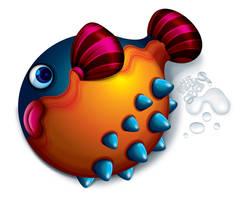 Pity Globe Fish by Seanleedesign