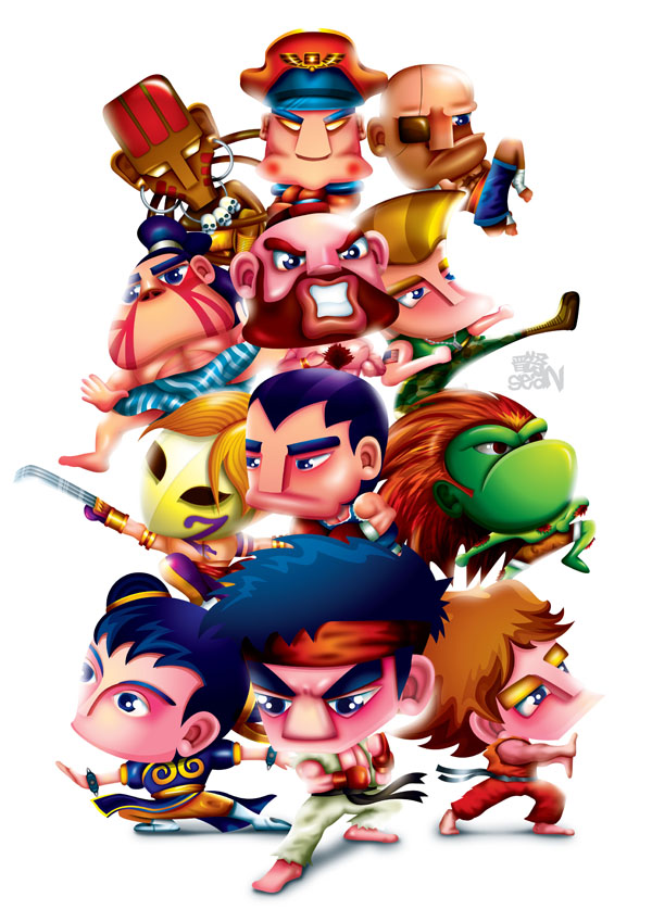 Street Fighter Fan Art by Seanleedesign
