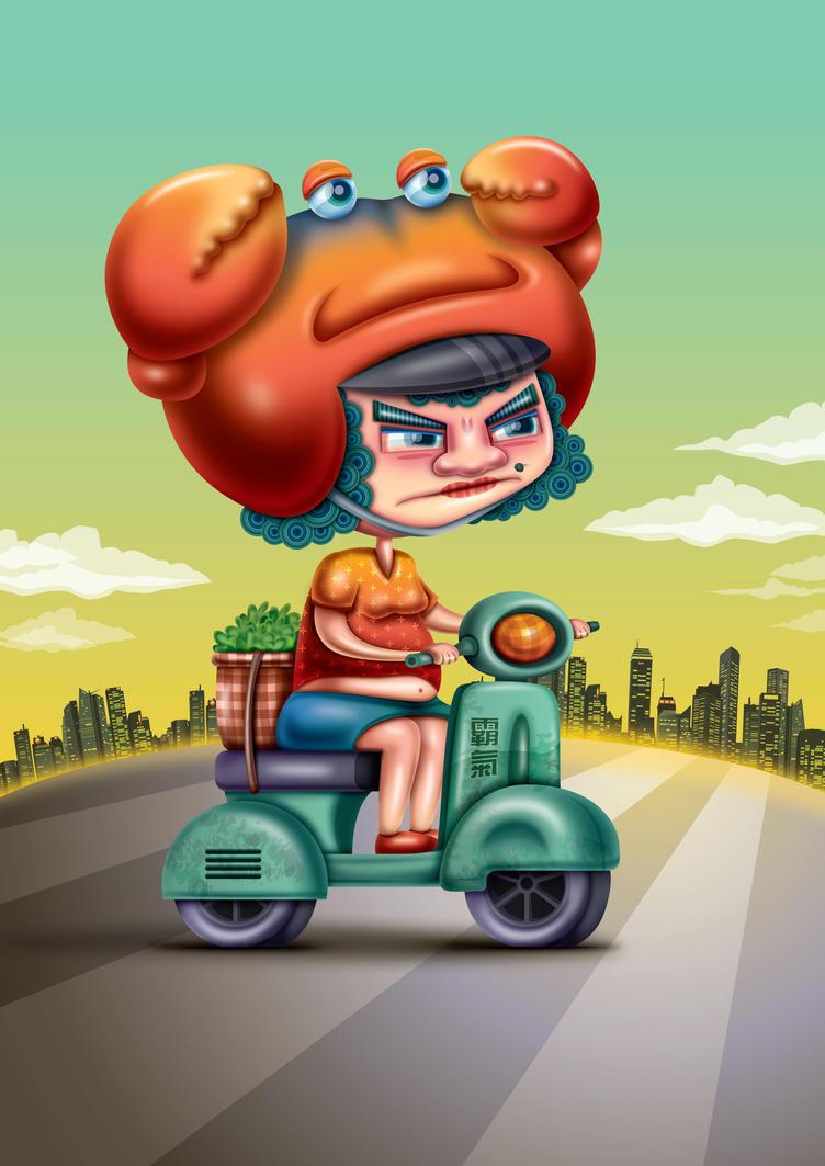 Road Bully Aunty by Seanleedesign