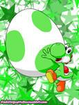 Yoshi's Big Egg by MissPinkStripes