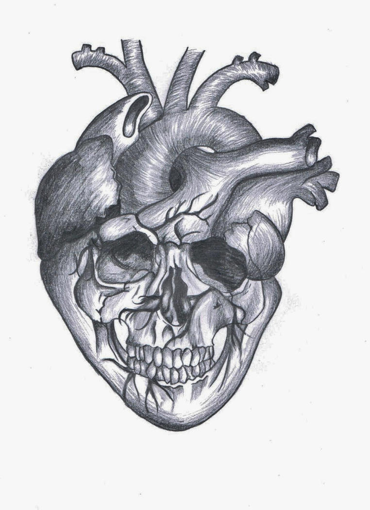 heart skull by luckychance07 on deviantart. Black Bedroom Furniture Sets. Home Design Ideas