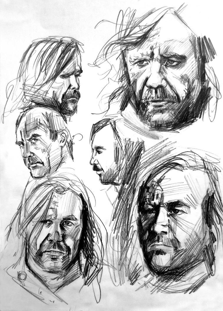 Rory McCann quick sketches by csillabold