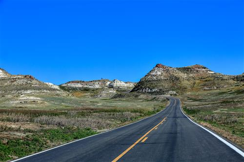The road to Badlands, Theodore Roosevelt NP by boradaphotography