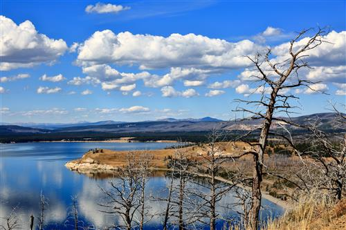 Overview of Lake Butte, Yellowstone NP by boradaphotography