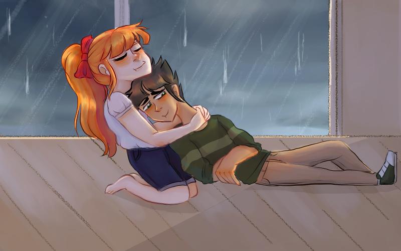 Rainy Cuddles by yosuehere