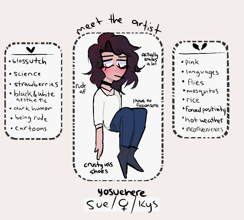 Meet the artist by yosuehere