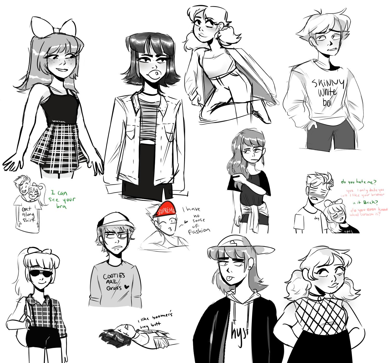 Fashion doodles by yosuehere