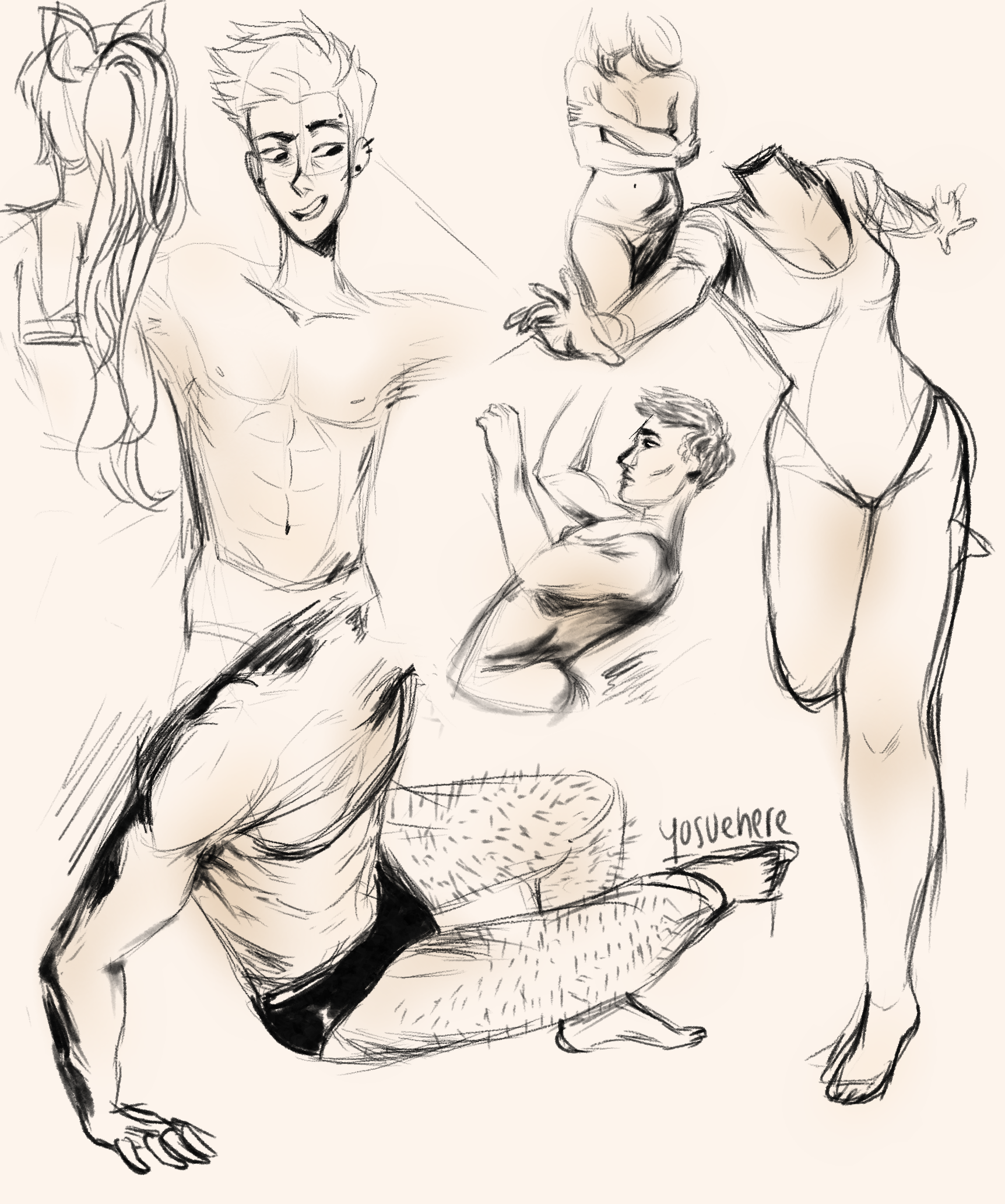 Figure Drawing + Butch And Bloss by yosuehere