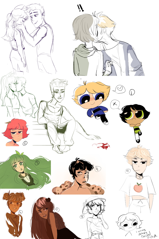 Sketch Dump + flavor doodles by yosuehere