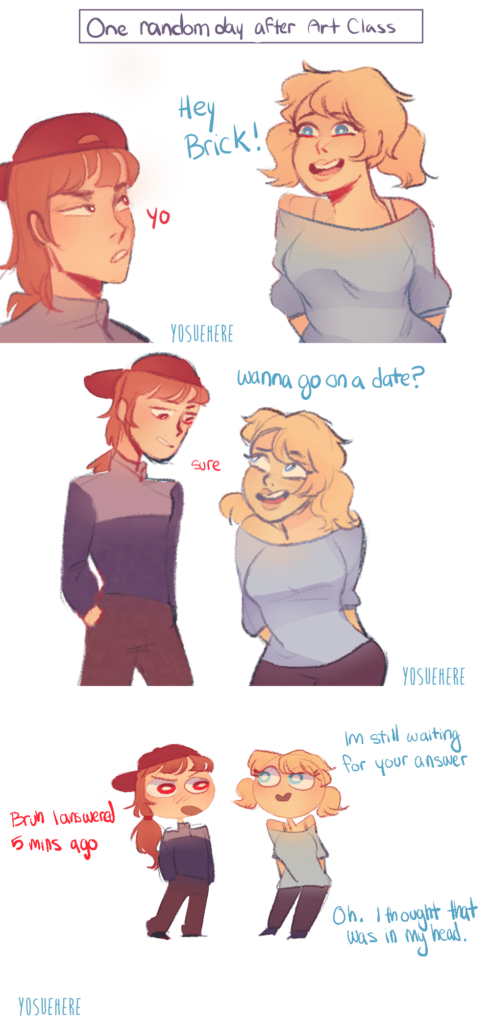 How Brick and Bubbles Started Dating by yosuehere