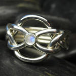 Moonstone puzzle ring