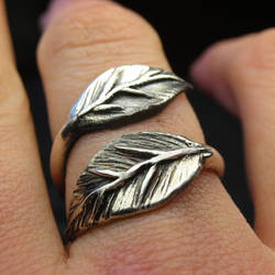 Leaf ring wrap