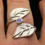Leaf wrap and moonstone