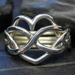 Heart shaped puzzle ring