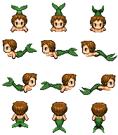 RPG Maker VX Sprite - Kaze the Merman by geminidrake