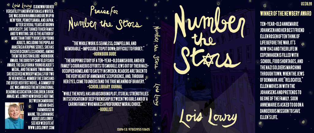 Book Cover Black Jackets ~ Number the stars book jacket by tuck neverlasting on