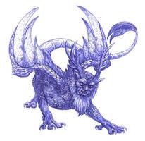 Dragon - Piasa by FoolishLittleMortal