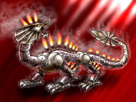 Mechanical Dragon by FoolishLittleMortal
