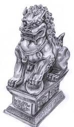 Fu Dog Sketch by FoolishLittleMortal