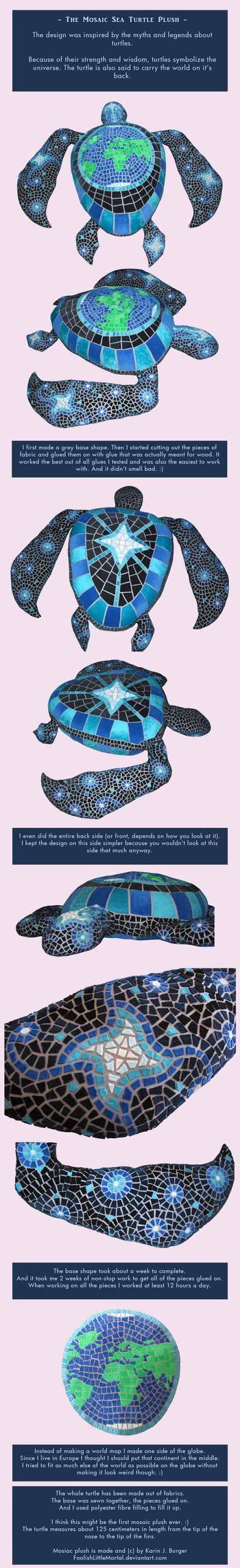 Mosaic Sea Turtle Plush