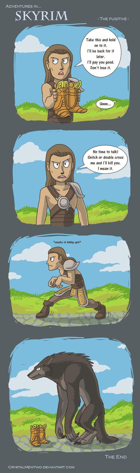 Skyrim - The fugitive by FoolishLittleMortal