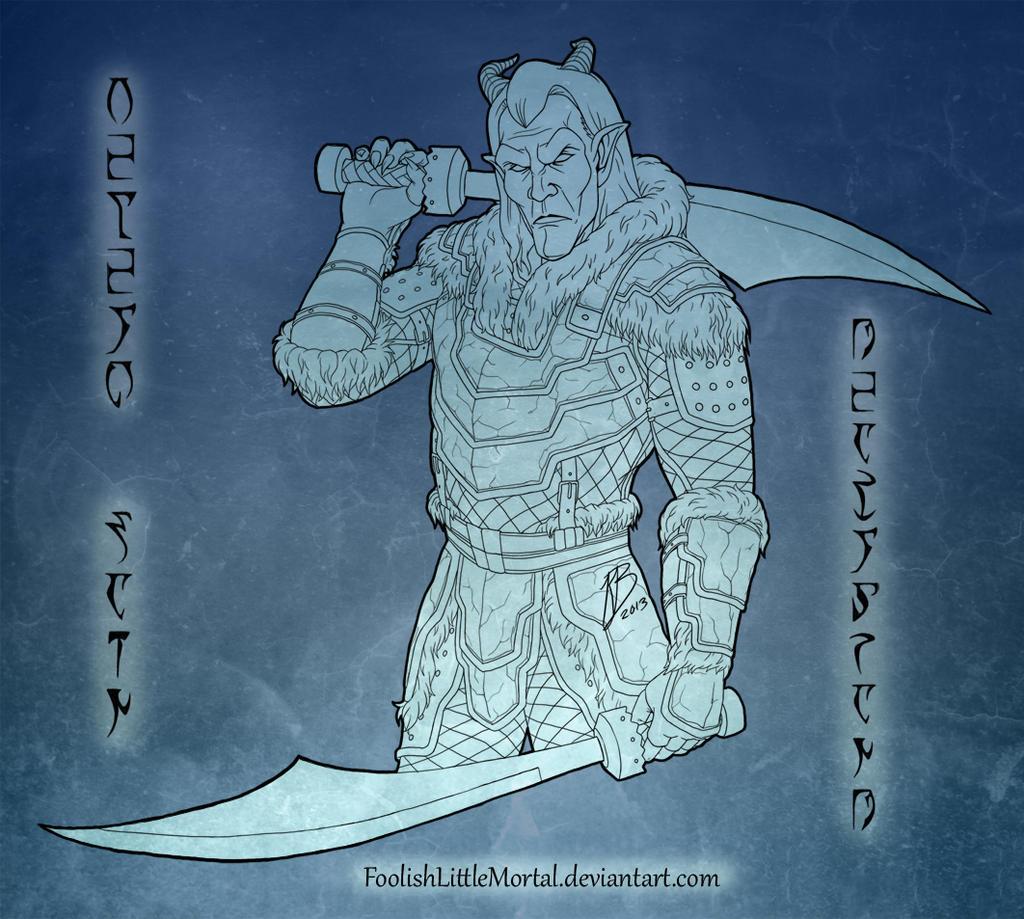 Velehk Sain in Deathbrand Armor by FoolishLittleMortal