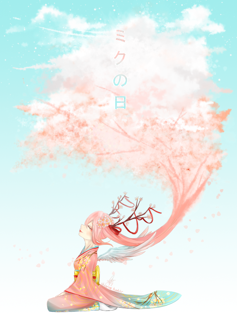 Sakura*Miku by shiroineko4