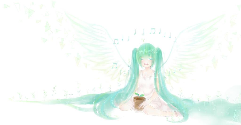 Happy 8th Birthday Hatsune Miku! by shiroineko4