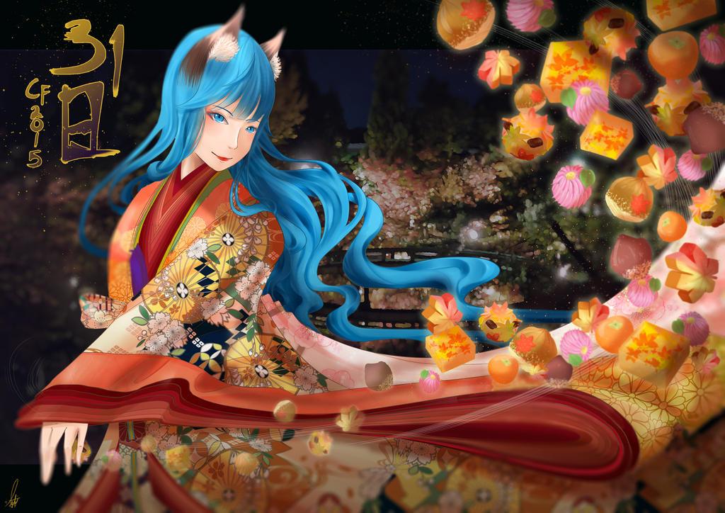 Heian wagashi by shiroineko4