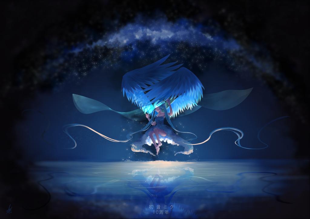 Hatsune Miku 10th Anniversary by shiroineko4