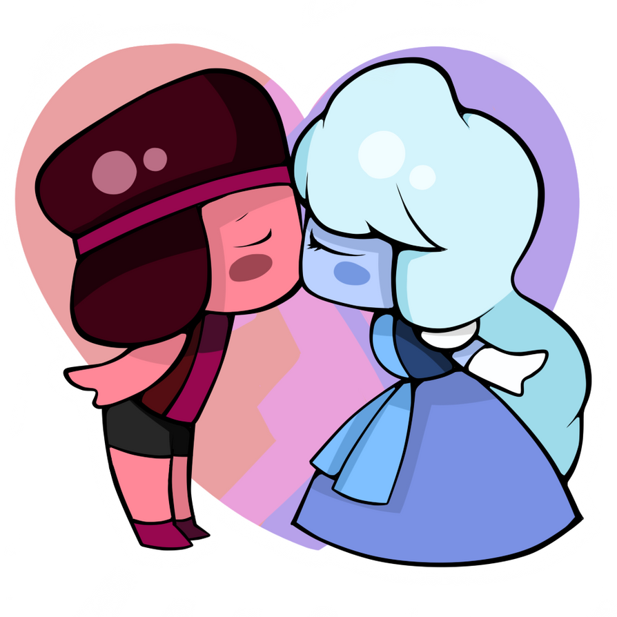 Ruby and Sapphire Chibi