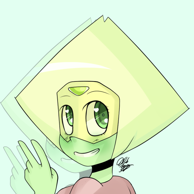 Sketch of Peridot. I'm too busy to draw anything detailed. ):