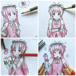 Coloring Kyoko .:Part 2:. by colorfulkitten