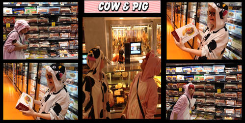 Cow and Pig at the Supermarket