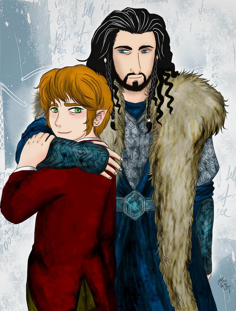 Thorin x Bilbo by Kiri-Yami