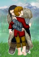 Thilbo hugging by Kiri-Yami
