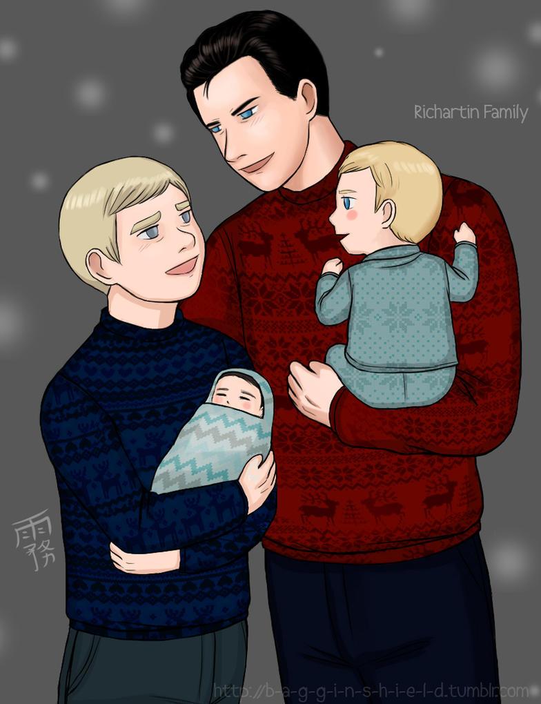 Richartin family! :3 by Kiri-Yami