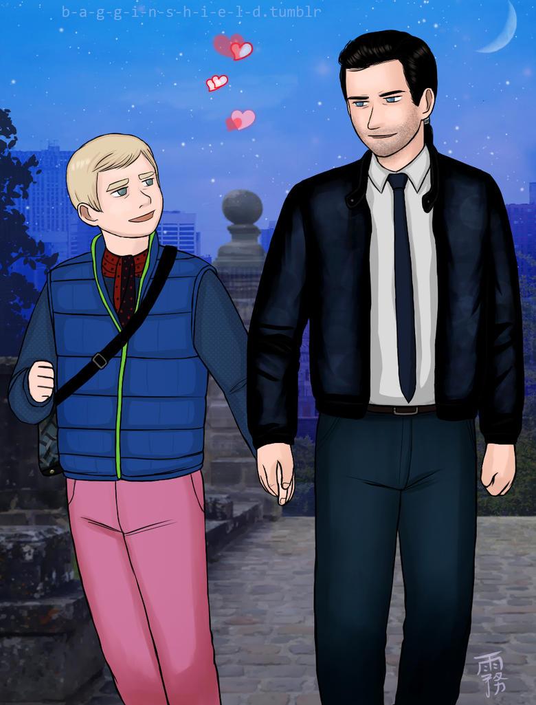 Richartin at NYC walking together by Kiri-Yami