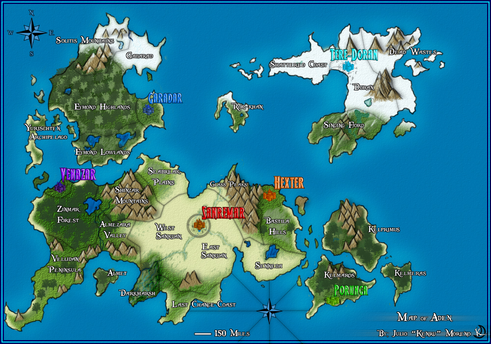 Map of Aden by Sanru on DeviantArt