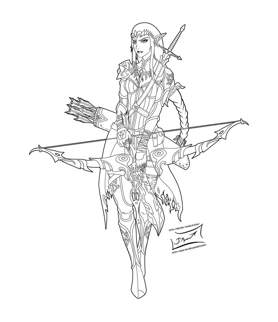 Warrior Princess Zelda Lineart By San ru On DeviantArt