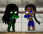 Gacha Club Boxing Jessica vs Lina Part 1
